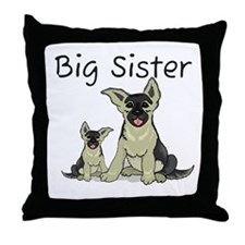 Dogs GS Big Sister Throw Pillow
