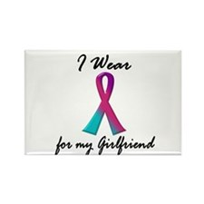 Thyroid Ribbon 1 (Girlfriend) Rectangle Magnet