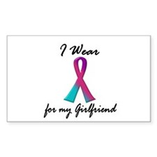 Thyroid Ribbon 1 (Girlfriend) Rectangle Decal