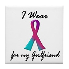 Thyroid Ribbon 1 (Girlfriend) Tile Coaster
