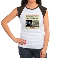 born in 1995 birthday gift Women's Cap Sleeve T-Sh
