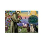 St. Francis/3 Labradors Rectangle Magnet