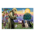St. Francis/3 Labradors Postcards (Package of 8)