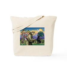 St. Fran/ Flat Coated Ret Tote Bag