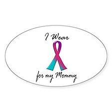 Thyroid Ribbon 1 (Mommy) Oval Decal
