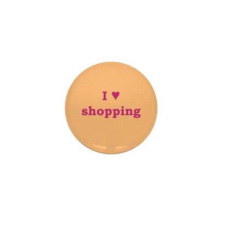 I Heart Shopping Mini Button