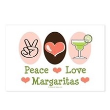 Peace Love Margarita Postcards (Package of 8)