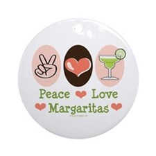 Peace Love Margarita Ornament (Round)