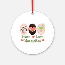 Peace Love Margarita Ornament (Round)