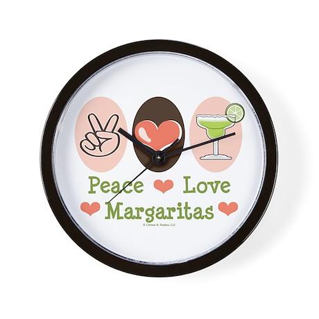 Peace Love Margarita Wall Clock
