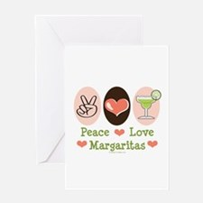 Peace Love Margarita Greeting Card