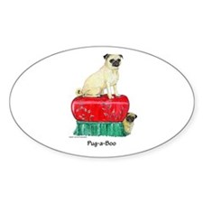 Pug-a-Boo Pug Decal