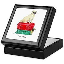 Pug-a-Boo Pug Keepsake Box