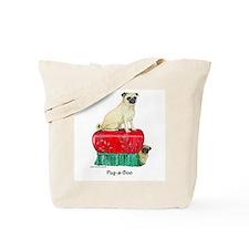 Pug-a-Boo Pug Tote Bag