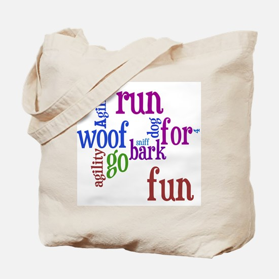 Funny Agility dogs Tote Bag