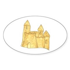 Sandcastle Oval Decal