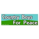Country Boys for Peace Bumper Sticker