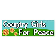 Country Girls for Peace Bumper Sticker