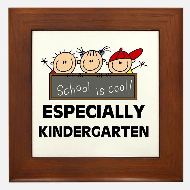 Kindergarten is Cool Framed Tile