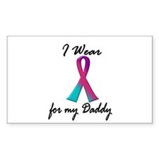 Thyroid Ribbon 1 (Daddy) Rectangle Decal