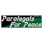 Paralegals for Peace Bumper Sticker