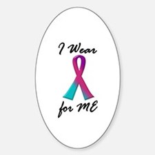 Thyroid Ribbon 1 (ME) Oval Decal