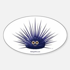 Purple Sea Urchin Oval Decal