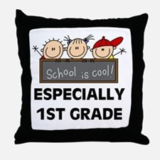 1st Grade is Cool Throw Pillow