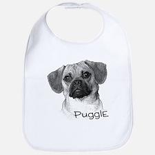 Perfect Puggle Portrait Bib