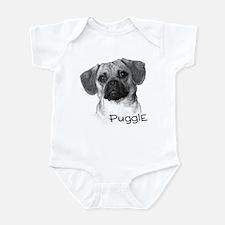 Perfect Puggle Portrait Infant Bodysuit