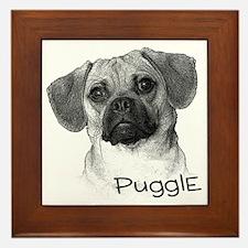 Perfect Puggle Portrait Framed Tile