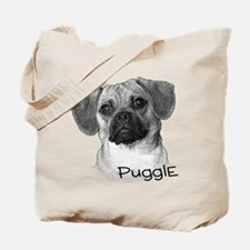 Perfect Puggle Portrait Tote Bag
