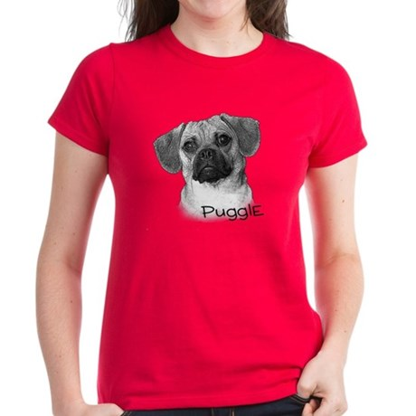 Perfect Puggle Portrait Women's Dark T-Shirt