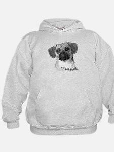Perfect Puggle Portrait Hoodie