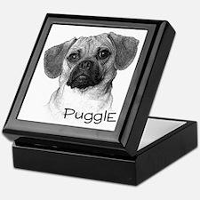 Perfect Puggle Portrait Keepsake Box
