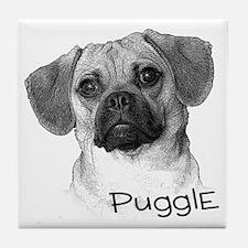Perfect Puggle Portrait Tile Coaster