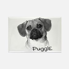 Perfect Puggle Portrait Rectangle Magnet (100 pack