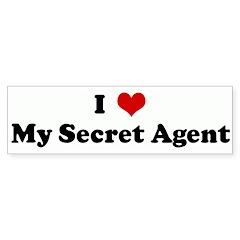 I Love My Secret Agent Bumper Bumper Sticker