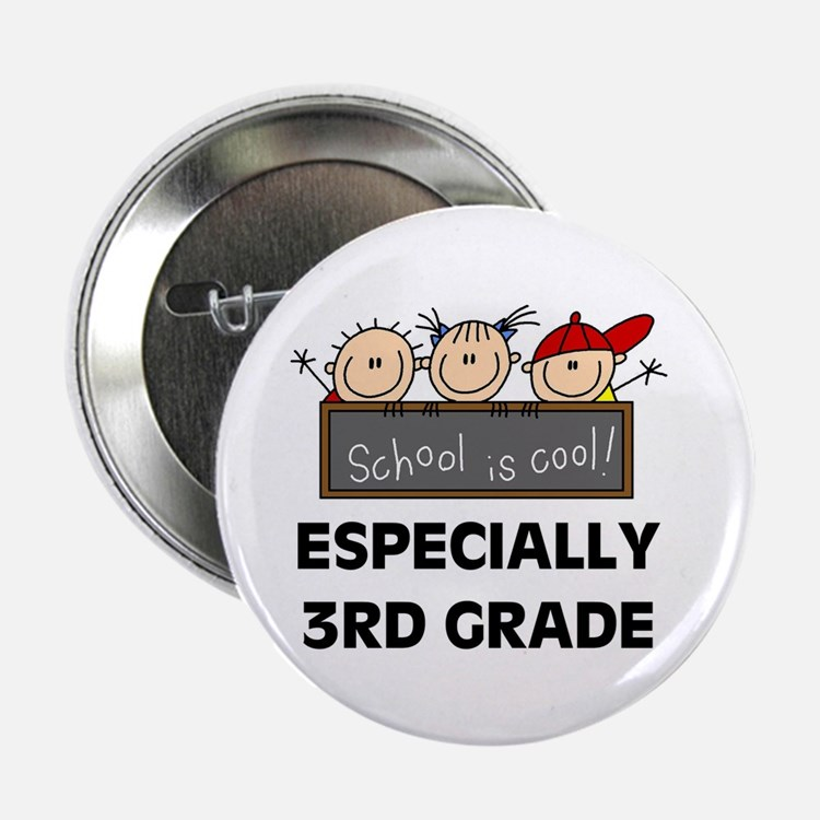 """3rd Grade is Cool 2.25"""" Button (100 pack)"""