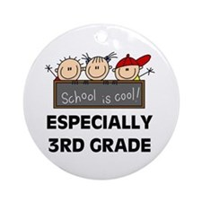 3rd Grade is Cool Ornament (Round)