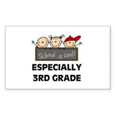 3rd Grade is Cool Rectangle Decal