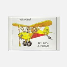 Fly With A Friend Rectangle Magnet
