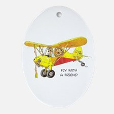 Fly With A Friend Oval Ornament