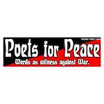 Poets for Peace bumper sticker