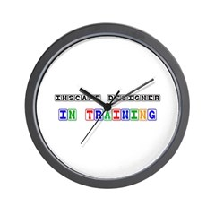 Inscape Designer In Training Wall Clock