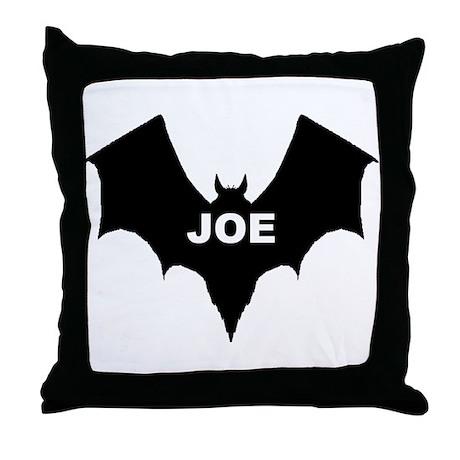BLACK BAT JOE Throw Pillow