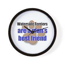 Waterside Terriers man's best friend Wall Clock