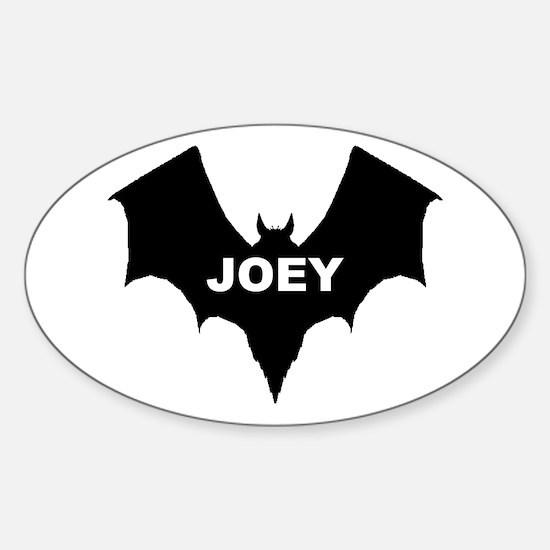 BLACK BAT JOEY Oval Decal