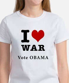Obama <3 War With Back (Tee)