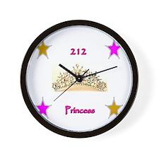 zip code princess Wall Clock